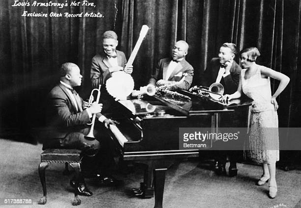 The recordings of Louis Armstrong's Hot Five would prove to be some of the most influential in Jazz The Hot Five from left to right were Armstrong...