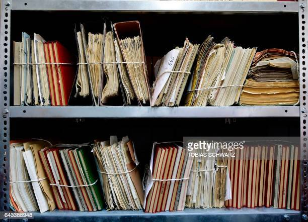 The records of the Stasi former East German secret police are stored at the Stasi Museum in Berlin on February 21 2017 in Berlin The Stasi was the...
