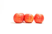 The red apple on white background isolate