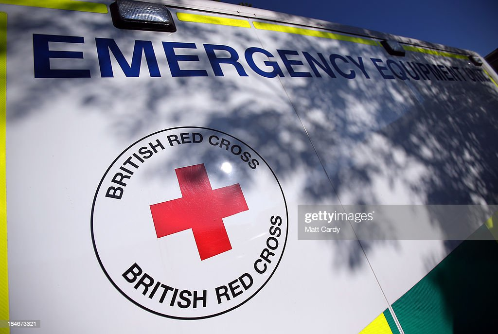 The Red Cross logo is displayed on a vehicle outside the British Red Cross Bristol Emergency Response Unit, as it marks the 150th anniversary of The Red Cross movement on October 15, 2013 in Bristol, England. The British Red Cross is currently celebrating the 25 million food parcels issued worldwide by the British Red Cross.