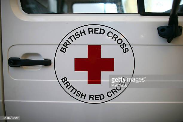 The Red Cross logo is displayed on a vehicle outside the British Red Cross Bristol Emergency Response Unit as it marks the 150th anniversary of The...