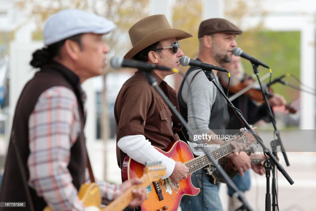 The Red Dirt Rangers perform during the opening ceremony for the Woody Guthrie Center on April 27, 2013 in Tulsa, Oklahoma.