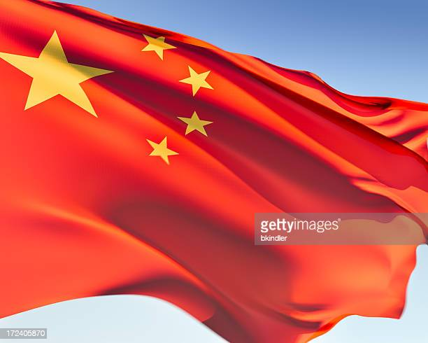 The red flag with yellow stars for China