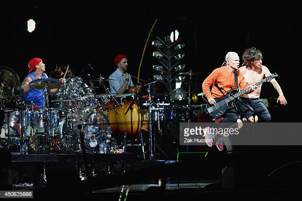 The Red Hot Chilli Peppers perform at The Isle of Wight Festival at Seaclose Park on June 14 2014 in Newport Isle of Wight