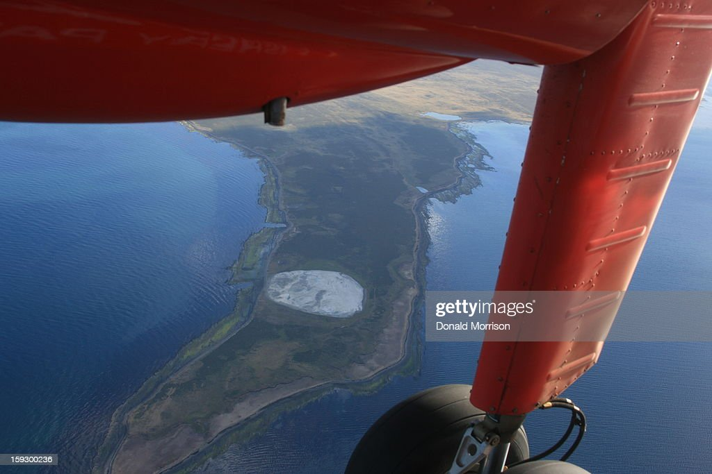 CONTENT] The red Islander plane belonging to Falkland Islands Government Air Service crossing from East to West Falkland.