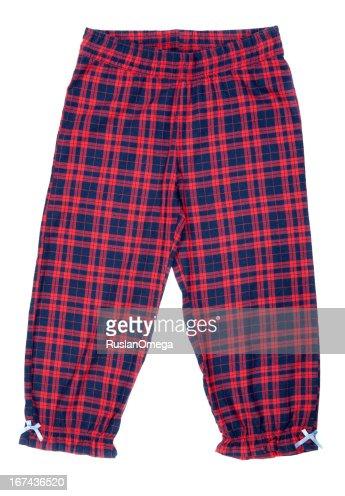Rojo Pijamas pantalón a cuadros : Foto de stock