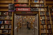 The 'Red Room' section of books are on display at Powell's Bookstore on February 11 in Portland Oregon Portland has embraced its national reputation...