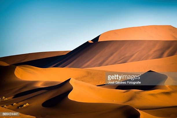 The red sand dunes in Namibia