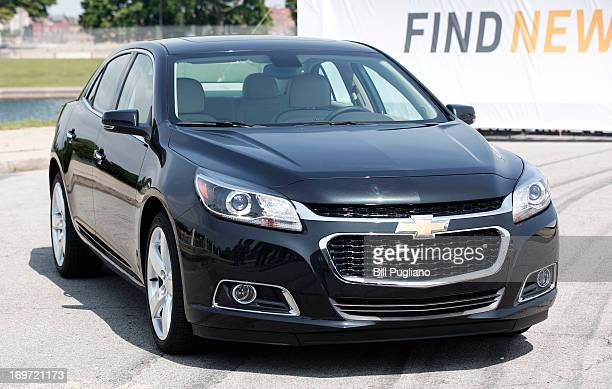 The redesigned 2014 Chevrolet Malibu is shown after it's introduction to the media at a press conference on Belle Isle May 31 2013 in Detroit...