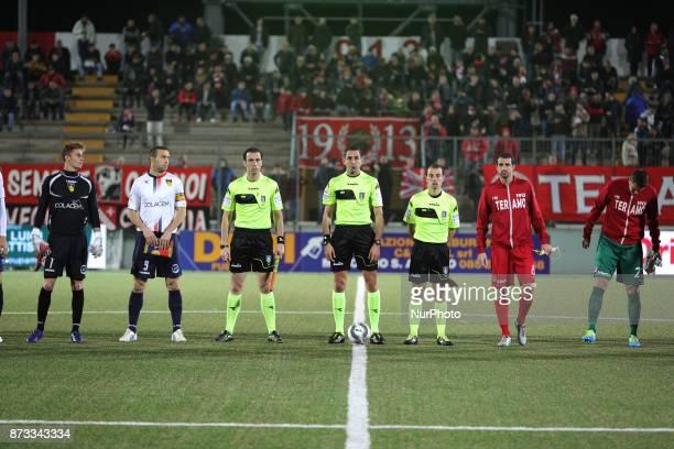 The referee during the Lega Pro 17/18 group B match between Teramo Calcio 1913 and AS Gubbio 1910 at Gaetano Bonolis stadium on November 12 2017 in...