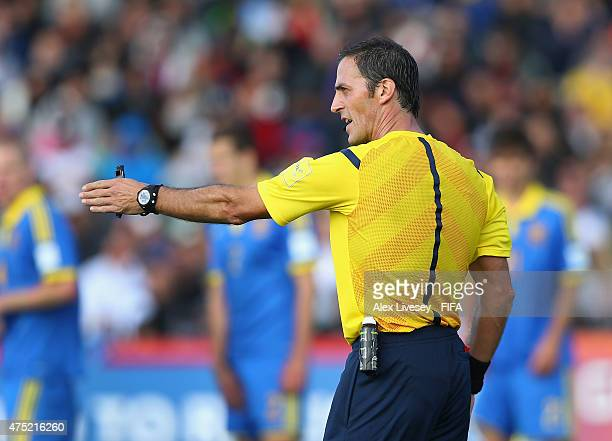 The referee Mauro Vigliano of Argentina in action during the FIFA U20 World Cup Group A match between New Zealand and Ukraine at the North Harbour...