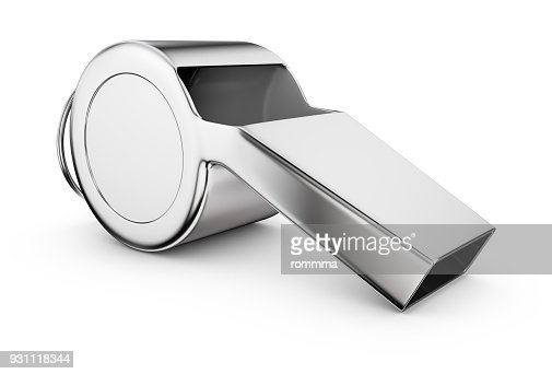 The Referee whistle : Stock Photo