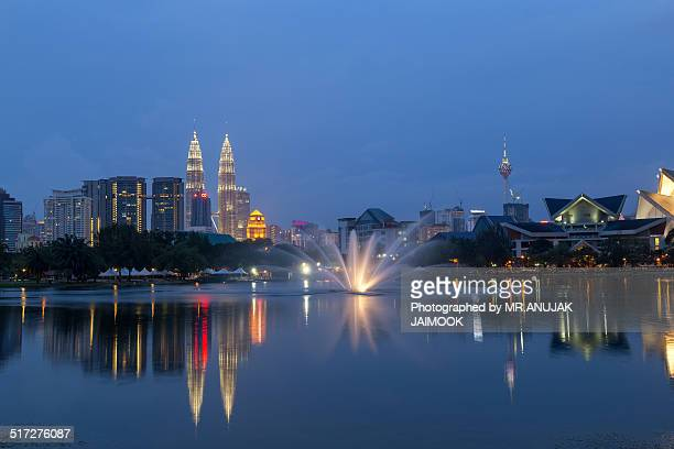 The reflection of Kuala Lumpur city Malaysia