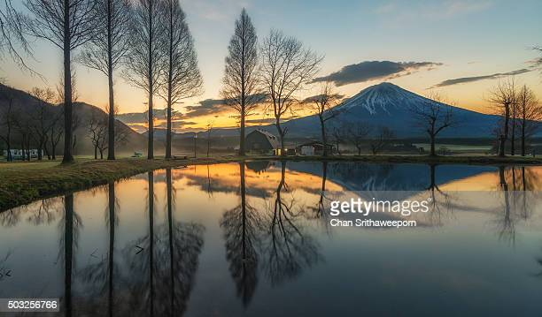 The reflection of Mt.Fuji, Japan