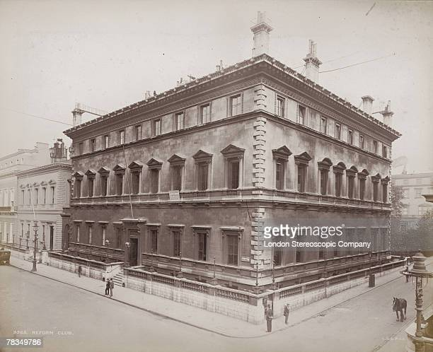 The Reform Club a gentleman's club on the corner of Pall Mall and Carlton Gardens London circa 1900