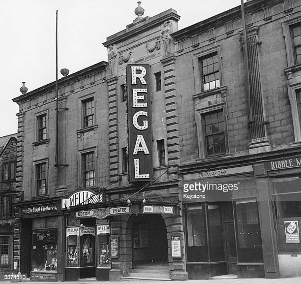 The Regal Theatre in Skipton Yorkshire with the Regal kiosk underneath