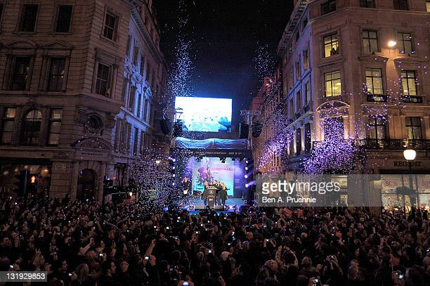 the regent streets christmas lights switch on celebrating the anticipated release of the film - Christmas Light Switch