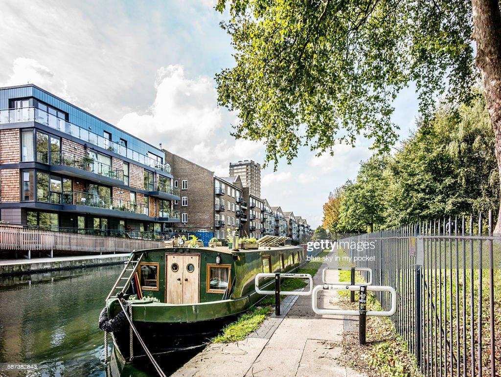 The Regent's Canal in Hackney London