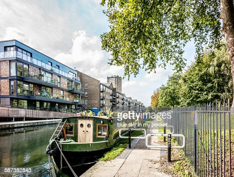 The Regent's Canal in Hackney London