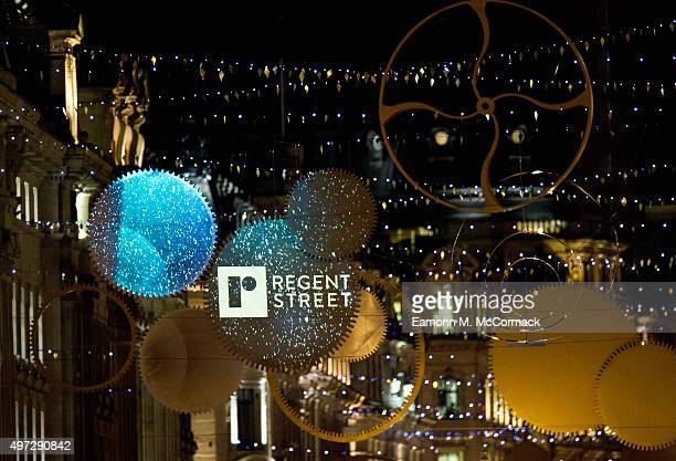 The Regent's Street Christmas Lights at Regent Street on November 15 2015 in London England