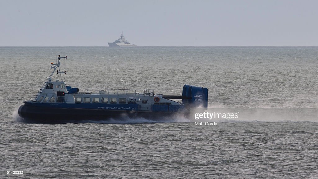 The regular hovercraft service leaves the Isle of Wight bound for Portsmouth on January 8 2015 in Ryde England Tourism remains the most important...