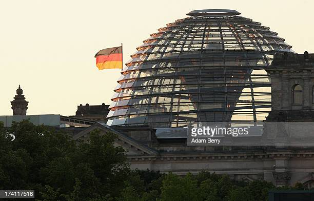 The Reichstag building seat of the national Parliament of the Federal Republic of Germany the Bundestag stands on July 20 2013 in Berlin Germany The...