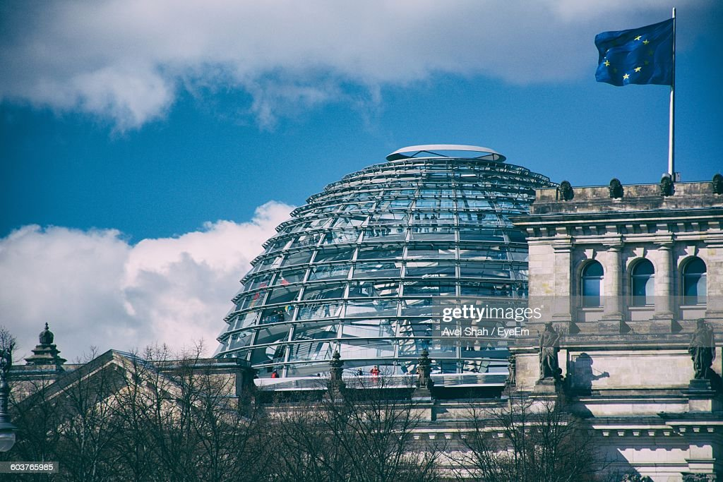 The Reichstag Dome Against Sky