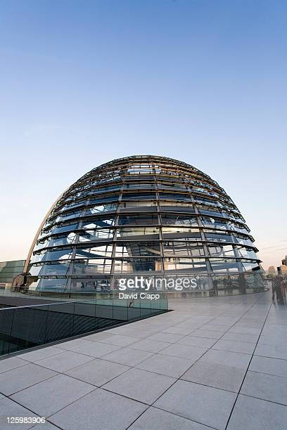 The Reichstag dome designed by Norman Foster atop of the German Parliament Building, Berlin, Germany