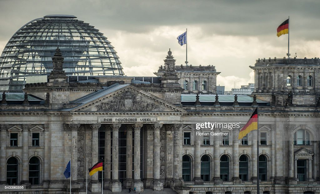The Reichstag is captured on June 28, 2016 in Berlin, Germany.