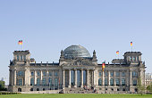 The Reichstag which houses Germany's parliament the Bundestag stands under a late summer day of sun September 25 2006 in Berlin Germany