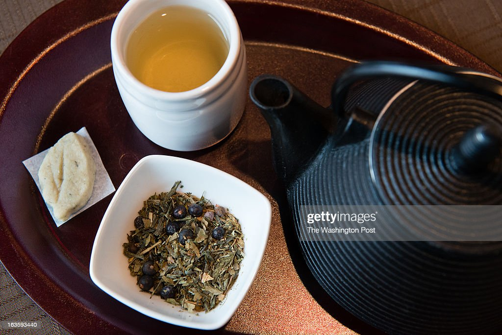 The relaxing House of Steep features a tea house as well as a Foot Sanctuary where you can soak tired feet. We feature them for the Good to Go column. A pot of Clarity tea featuring ginko, juniper berrries, and sencha is pictured. It is served with a lavender tea cookie.
