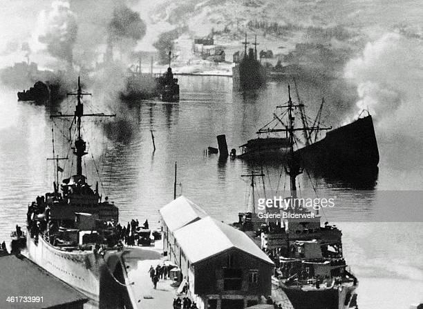 The remains of a naval battle 1940 Several battles between German and Norwegian forces took place in the Ofotfjord in the spring of 1940 Narvik Norway