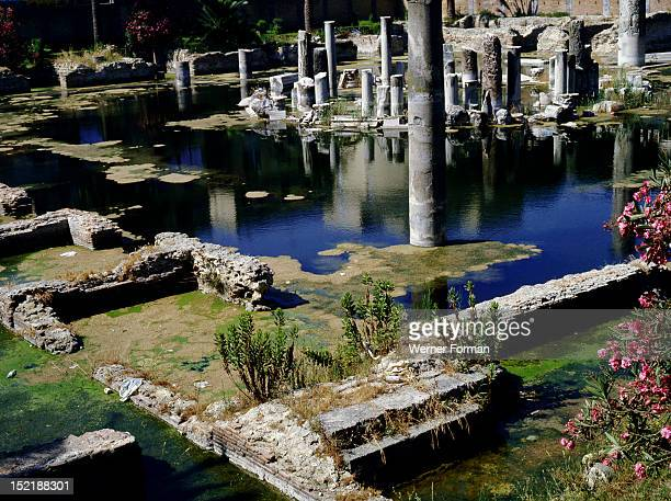 The remains of the circular structure of the Serapeum a covered market place constructed during the reign of the Flavian emperors The Serapeum and...