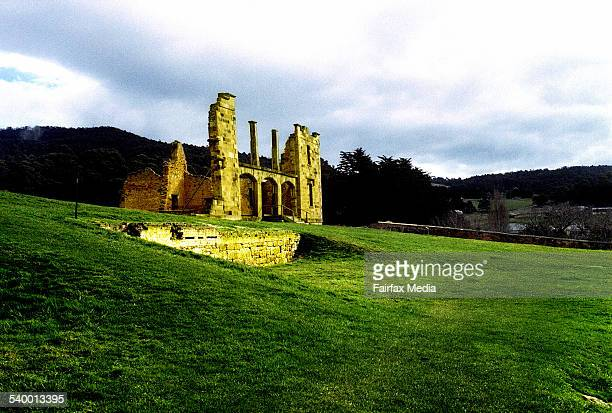 The remains of the penal settlement at the Port Arthur historic site Tasmania 27 August 2002 AFR Picture by MICHEL BUNN