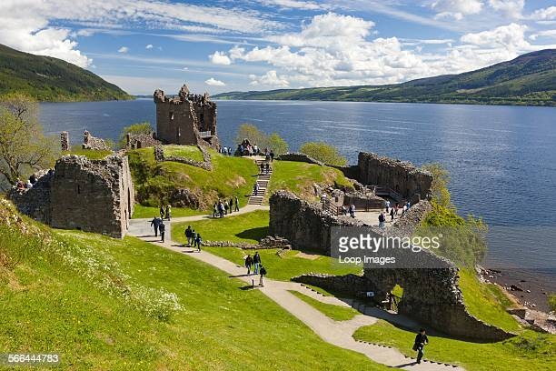 The remains of Urquhart castle on Loch Ness