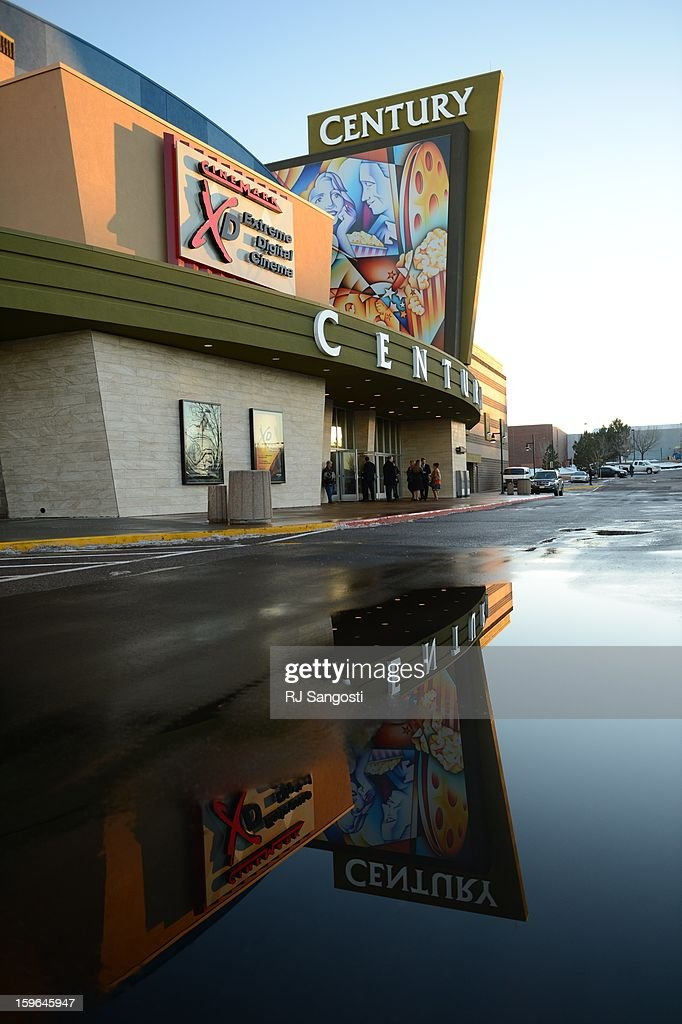 The remodeled Century 16 movie theater before the reopening and remembrance of the Century Aurora Theater where suspect James Holmes is accused of killing 12 people and wounding 70 others on Friday, July 20, 2012.