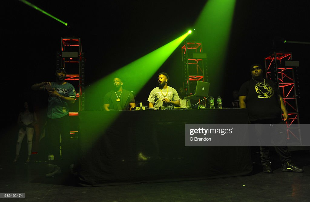 The Remy Boyz perform on stage during Fetty Wap's concert at the Eventim Apollo on May 29, 2016 in London, England.