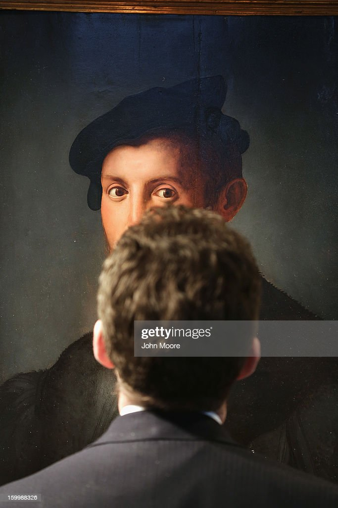 The Renaissance 'Portrait of a Young Man' by Agnolo Bronzino gazes from the wall of Christie's on January 24, 2013 in New York City. The piece, considered one of the most important Italian Renaissance portraits remaining in private hands, is expected to sell for $12-18 million. The auction house previewed pieces from its upcoming Old Masters Week, to be held Jan. 26-31 in New York City, with the auction beginning January 29.