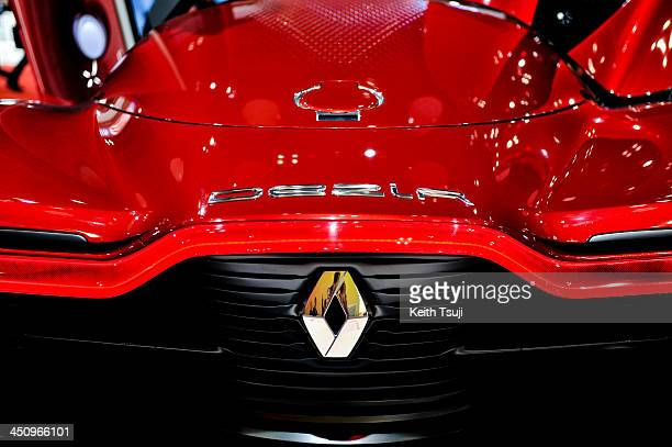 The Renault electric concept car DeZir is displayed during the 43rd Tokyo Motor Show 2013 at Tokyo Big Sight on November 20 2013 in Tokyo Japan The...