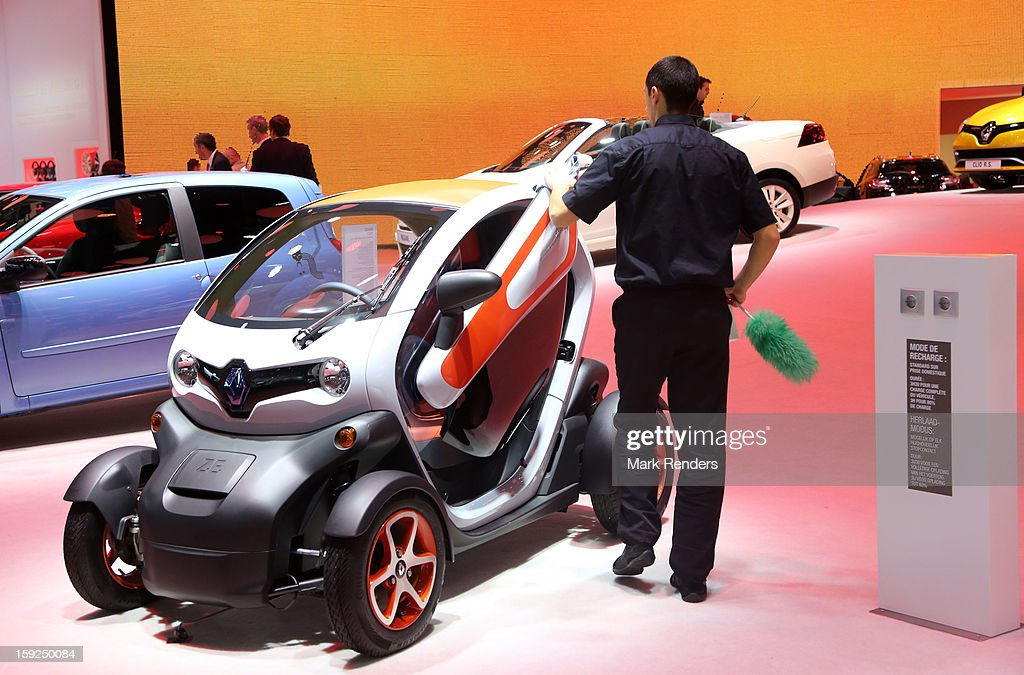 The Renault Z.E. is displayed at the 91st edition of the European Motor Show at Brussels Expo on January 10, 2013 in Brussels, Belgium.