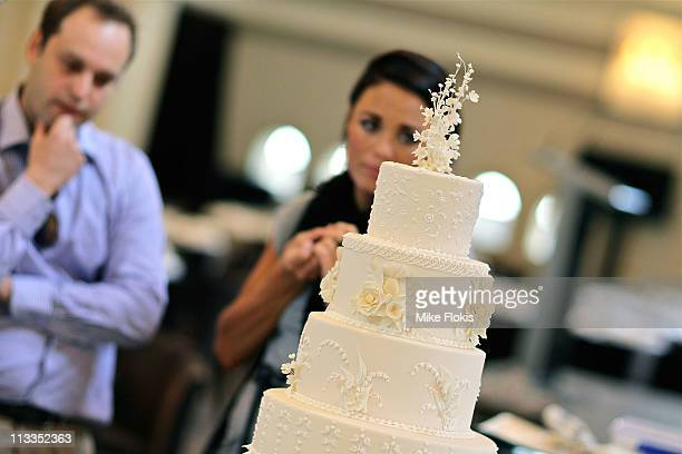 The replica wedding cake displayed at the Queen Victoria Building on May 2 2011 in Sydney Australia Woman's Day Australia assembled a team that...