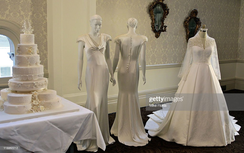 The Replica Wedding Dress Worn By Catherine Duchess Of Cambridge Displayed At Queen Victoria