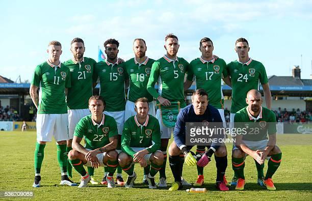 The Republic of Ireland starting XI James McClean Daryl Murphy Cyrus Christie David Meyler Richard Keogh Stephen Ward Ciaran Clark Jeff Hendrick...