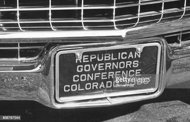 The Republican governors can keep the plates as souvenirs but the cars will be sold to area dealers for resale Credit Denver Post