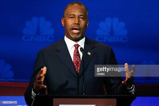 EVENTS The Republican Presidential Debate Your Money Your Vote Pictured Ben Carsonparticipates in CNBC's 'Your Money Your Vote The Republican...