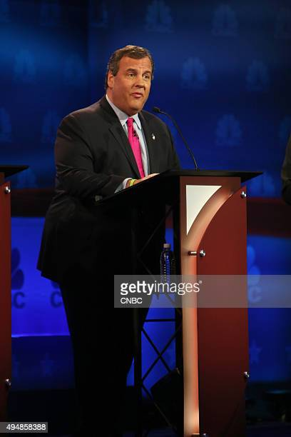 EVENTS The Republican Presidential Debate Your Money Your Vote Pictured Chris Christie participates in CNBC's 'Your Money Your Vote The Republican...