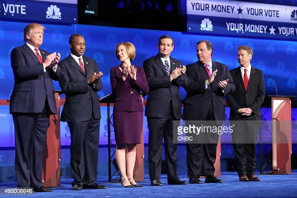 EVENTS The Republican Presidential Debate Your Money Your Vote Pictured Donald Trump Ben Carson Carly Fiorina Ted Cruz Chris Christie and Rand Paul...
