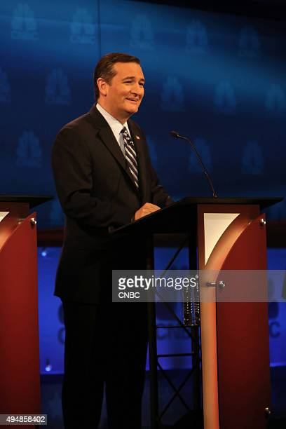 EVENTS The Republican Presidential Debate Your Money Your Vote Pictured Ted Cruz participates in CNBC's 'Your Money Your Vote The Republican...