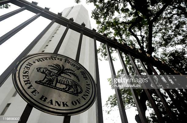 The Reserve Bank of India head office facade is pictured in Mumbai on July 26 2011 India's central bank on July 26 hiked interest rates by a...
