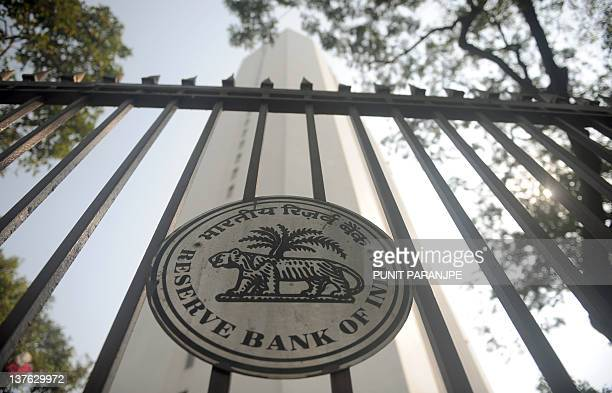 The Reserve Bank of India head office facade is pictured in Mumbai on January 24 2012 India's central bank moved to increase liquidity in the banking...